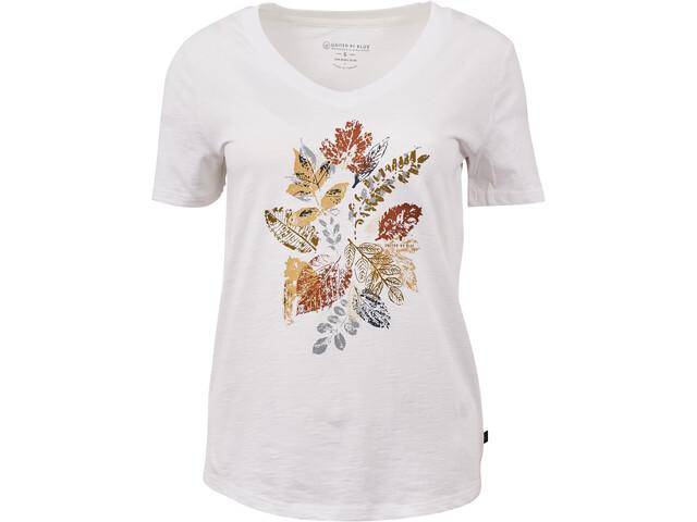 United By Blue Loose Leaf V-hals T-shirt Dames, white